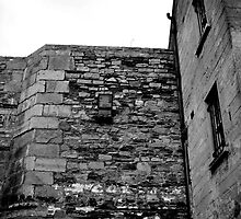 High Walls, Stonebreakers Yard, Kilmainham Gaol, Dublin. by Lisa Hafey