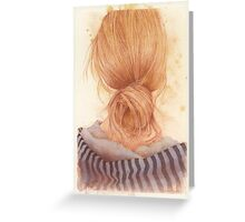 long hair anyone? Greeting Card