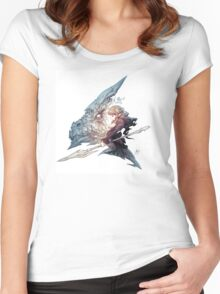 Dragon wizzard desgin fantasy Women's Fitted Scoop T-Shirt