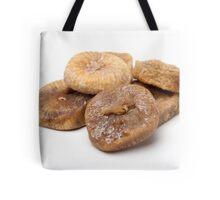 Cut out of dried figs On white Background  Tote Bag