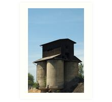 An unusual agricultural building Art Print