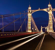 Albert Bridge, London by Llewellyn Cass
