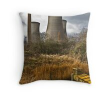 Richborough Power Station Throw Pillow