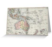 Vintage Map of Oceania (1892) Greeting Card