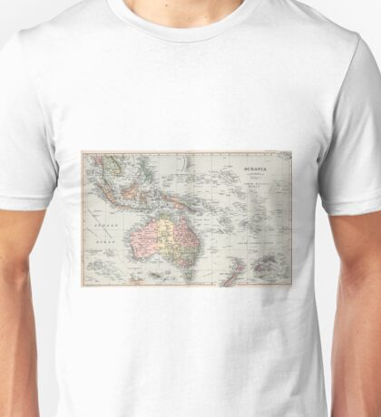 Vintage Map of Oceania (1892) Unisex T-Shirt