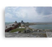 Christchurch coastal defence Canvas Print