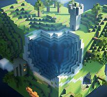 Minecraft cube world by TwitchMerch
