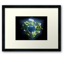 Minecraft cube world Framed Print