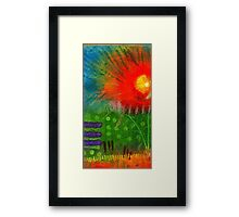Brace Yourself, Here Comes The SUN Framed Print