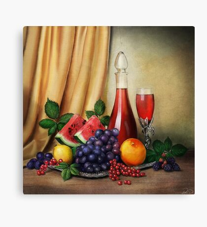 Classic Still Life with Fruits Canvas Print