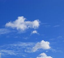 Blue sky with clouds by Honeyboy Martin