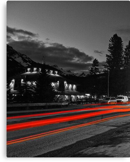 The Red Lights Trails of Banff by Ryan Davison Crisp