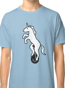 Unicorn on a Unicycle Classic T-Shirt