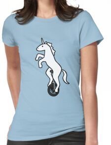 Unicorn on a Unicycle Womens Fitted T-Shirt