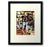 General Store With Candy Jars Framed Print