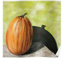 Single Pumpkin Still Life Poster