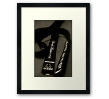 Black belt Framed Print