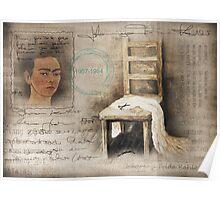 hommage Frida Kahlo Poster