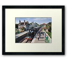 Corfe railway station Framed Print