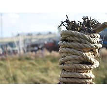'Fishing post' Photographic Print