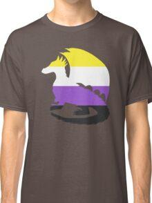 Nonbinary Pride Dragon Silhouette Classic T-Shirt