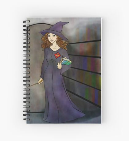 Hermione in the Library Spiral Notebook