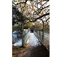 Archway to winter Photographic Print