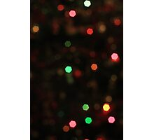 Blurred Christmas Tree Photographic Print