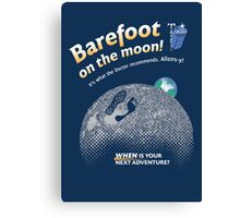 Doctor Who: Barefoot on the Moon Redux Canvas Print