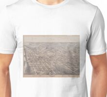 Vintage Pictorial Map of Dallas Texas (1872) Unisex T-Shirt