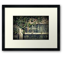Farm fence Framed Print