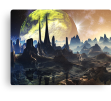 Hyperious Temple Ruins - Planet Ryjal Canvas Print
