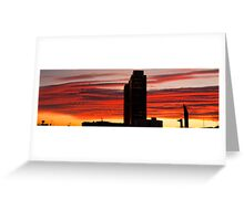 Fire over Barcelona Greeting Card