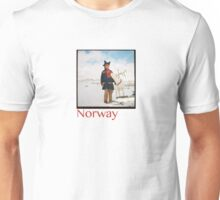 Sami and Reindeer on Magerøya, Norway - Diana 120mm Photograph Unisex T-Shirt