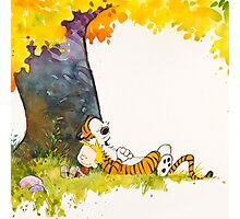 sleeping cute calvin hobbes Photographic Print