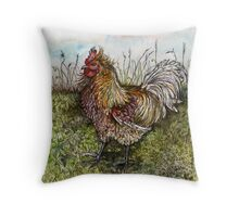 A Litttle Ruler of the Roost Throw Pillow