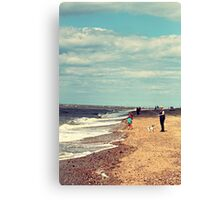 Beach fun Canvas Print