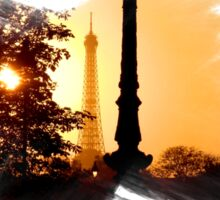 Paris Sunset - Capital - France Sticker