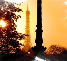 Paris Sunset - Capital - France Sticker