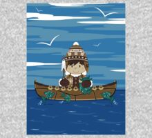 Cute Little Inuit Fisherman in Kayak One Piece - Long Sleeve