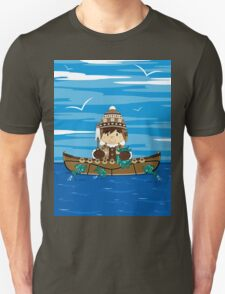 Cute Little Inuit Fisherman in Kayak Unisex T-Shirt