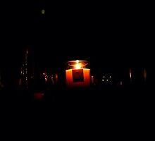 Candle flicker by JHuntPhotos