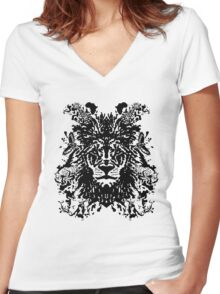 African Ink Women's Fitted V-Neck T-Shirt