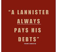 Lannister Quote by liquidsouldes