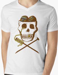 Knit For Brains Mens V-Neck T-Shirt