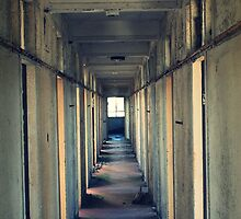 Empty hallway by JHuntPhotos