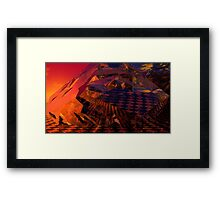 Red's Disintegration Checked Framed Print