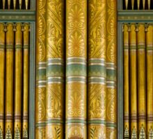 Green and gold organ pipes Sticker