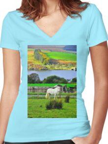 Welsh Pony Women's Fitted V-Neck T-Shirt
