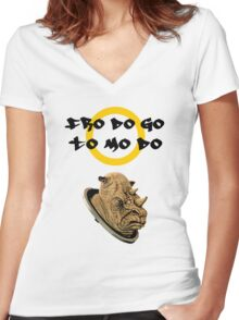 Lord of the rings judoon Women's Fitted V-Neck T-Shirt